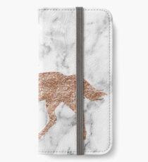 Rose gold marble unicorn iPhone Wallet/Case/Skin