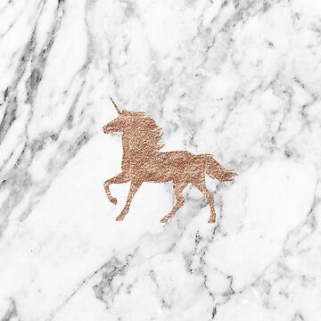 Unicornio de mármol de oro rosa de peggieprints