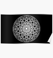 Black and White Contrast Mandala Poster
