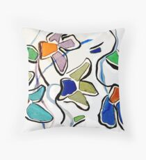 Flower Phobia Throw Pillow
