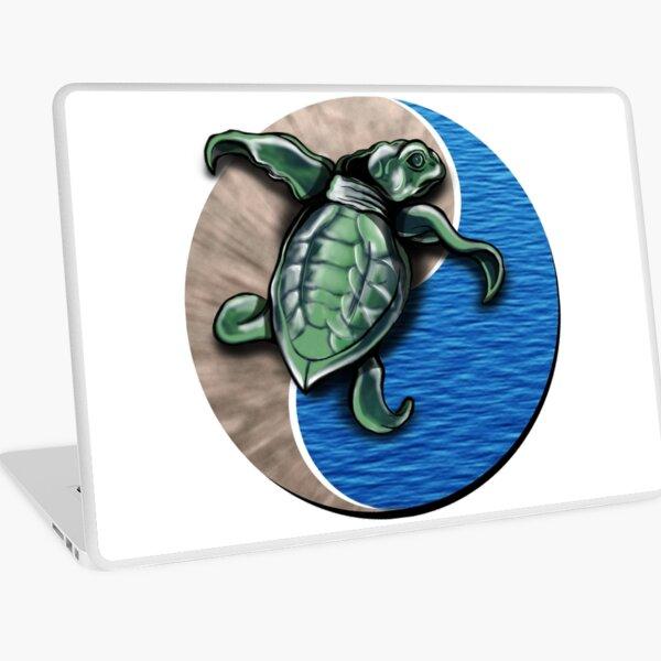 Turtle water and sand yin yang  Laptop Skin