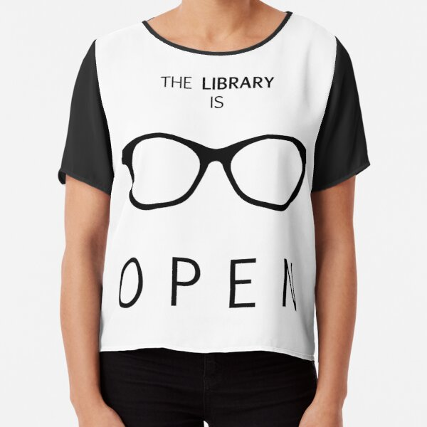 The Library is Open Chiffon Top