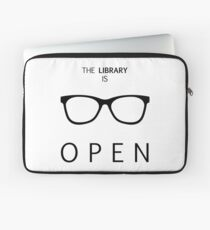 The Library is Open Laptop Sleeve
