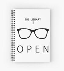 Cuaderno de espiral La biblioteca está abierta