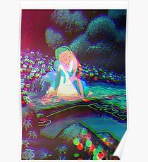 Alice in Wonderland Trippy Poster