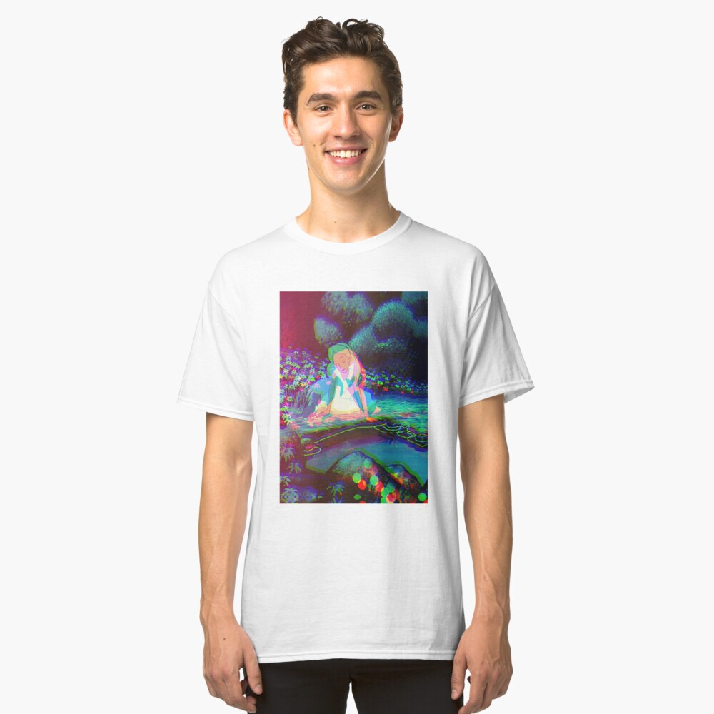 Alice in Wonderland Trippy Classic T-Shirt Front
