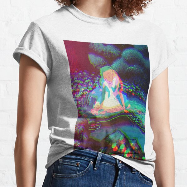Alice au pays des merveilles Trippy T-shirt classique