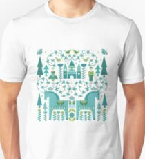 Fairytale illustration in Blue T-Shirt