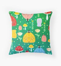 Colorful bugs and moths Throw Pillow