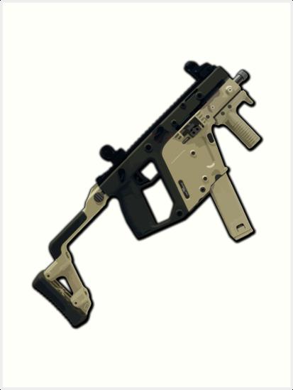 Vector Submachine Gun Art Prints By Tortillachief Redbubble