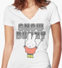 Miffy Snow Bunny Funny Shirt  Women's Fitted V-Neck T-Shirt