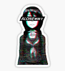 ALONE W/ JAPANESE sad manga aesthetic  Sticker