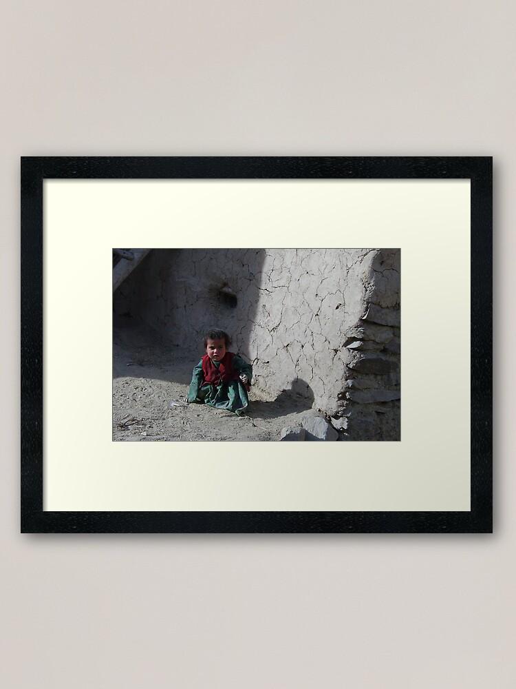 Alternate view of Girl (Afghanistan) Framed Art Print