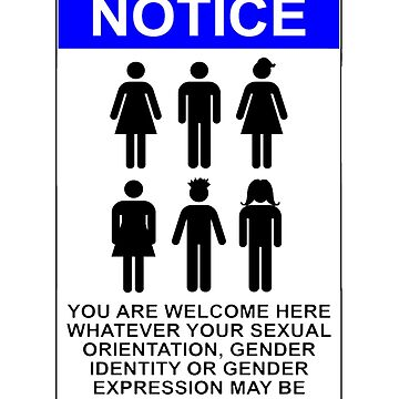 NOTICE: YOU ARE WELCOME HERE WHATEVER YOUR SEXUAL ORIENTATION, GENDER IDENTITY OR GENDER EXPRESSION MAY BE by wanungara