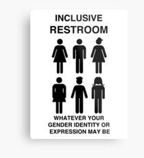 Inclusive Restroom Sign Metal Print