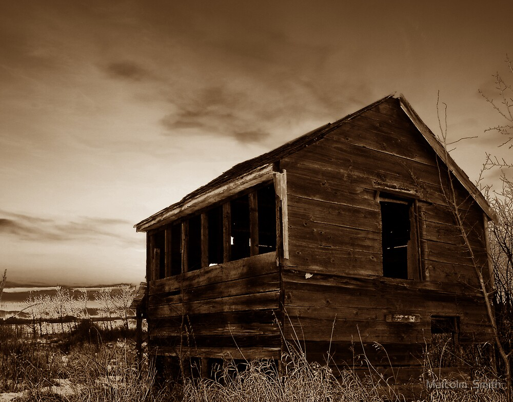 Barn in Sepia by Malcolm  Smith