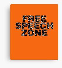 Free Speech Zone Canvas Print