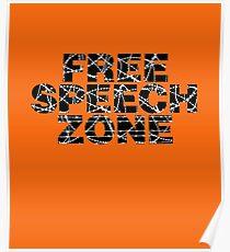 Free Speech Zone Poster