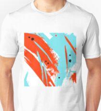 Orange blue brushstroke Unisex T-Shirt