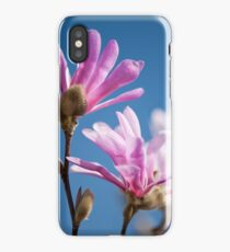 Vibrant pink Magnolia flowers iPhone Case/Skin