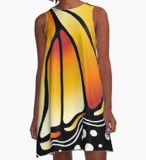 Beautiful Butterfly - Orange A-Line Dress