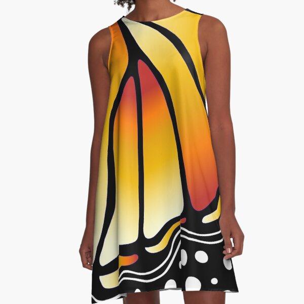 Beautiful Butterfly - Orange A-Line Dress