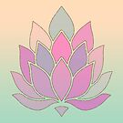 Lotus Flower Pastel Meditation Symbol by artsandsoul