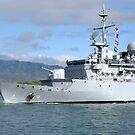 Die französische Marine-Fregatte FS Prairial verlässt die gemeinsame Basis Pearl Harbor-Hickam. von StocktrekImages