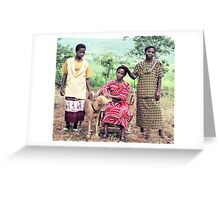 The Kingonsera Women and Simba Greeting Card