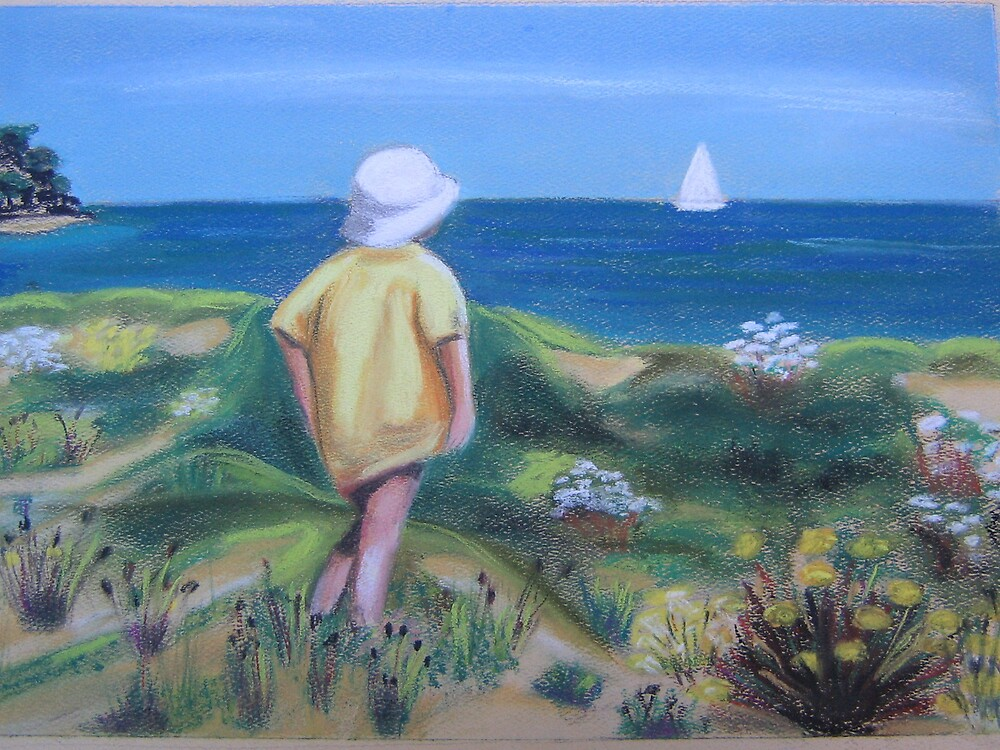 Child at the beach by ValM