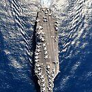 Luftaufnahme des Flugzeugträgers USS Harry S. Truman. von StocktrekImages