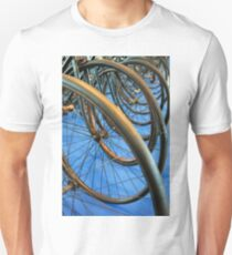 Many bicycle wheels details  T-Shirt