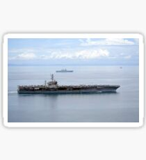 The aircraft carrier USS George Washington underway in the Yellow Sea. Sticker