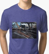 Two black elegant cars, front with windscreen Tri-blend T-Shirt