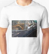 Dark shining car detail of windscreen and steering wheel Unisex T-Shirt