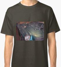 Blue vintage car hood and lights  Classic T-Shirt