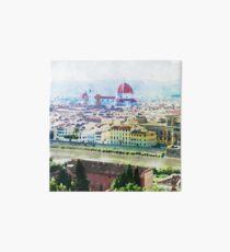 Aquarell von Florenz Italien Galeriedruck