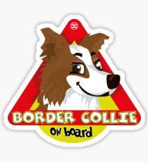 Border Collie On Board - Brown Male Sticker