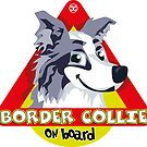 Border Collie On Board - Blue Merle Male by DoggyGraphics