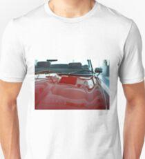 Red shining hood of classic car T-Shirt