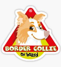 Border Collie On Board - Red Male Sticker