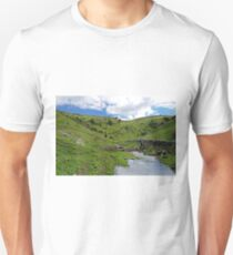 Crossing the Stream in Cressbrook Dale Unisex T-Shirt