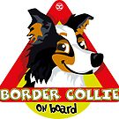 Border Collie On Board - Black Tricolor Male by DoggyGraphics