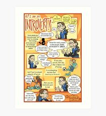 Hi! I am an Introvert! Art Print