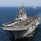 Die USS Essex durchquert vor der Küste im Nordosten Japans. von StocktrekImages
