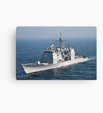 The Ticonderoga-class guided-missile cruiser USS Shiloh. Canvas Print
