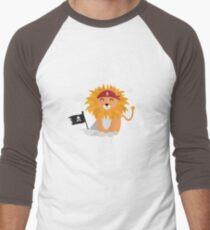 Lion Pirate with Pirateboat R4utl Men's Baseball ¾ T-Shirt