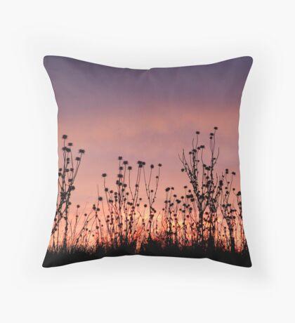 Thistles,Barrabool Hills Throw Pillow
