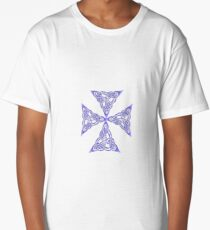 Lindisfarne St Johns Knot Tattoo In Lilac Long T-Shirt