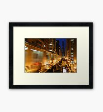 Chicago Elevated Train Framed Print
